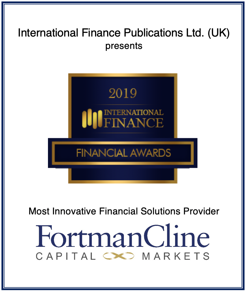 """Fortman Cline is awarded as """"Most Innovative Financial"""